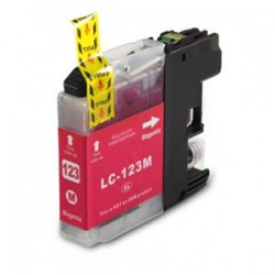 BROTHER LC123M V3 COMPATIBLE MAGENTA INK CARTRIDGE