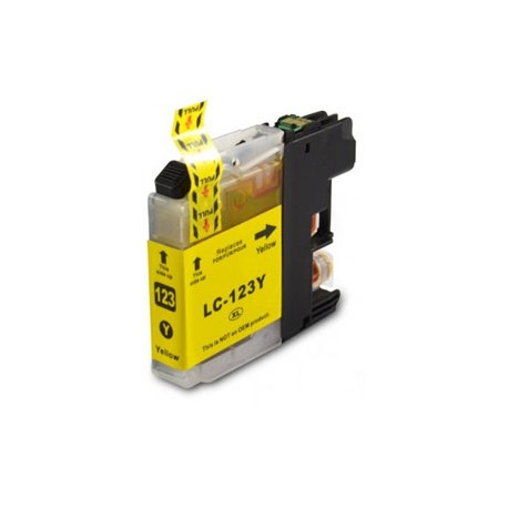 BROTHER LC123Y V3 COMPATIBLE YELLOW INK CARTRIDGE
