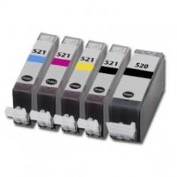 CANON C-550BK-C-551Y COMPATIBLE INK SET