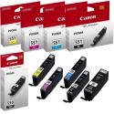 CANON C-550BK-C551Y COMPATIBLE INK SET