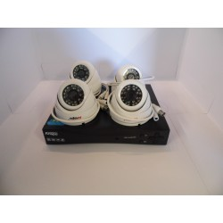 ANSPO 4 CHANNEL DVR KIT WITH 4 DOME CAMERAS