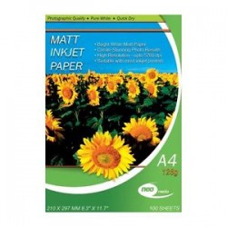 NEO MEDIA 128G MATTE COATED INKJET PHOTO PAPER 50 SHEETS