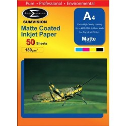 SUMVISION 180G A4 MATTE PHOTO PAPER 50 SHEETS